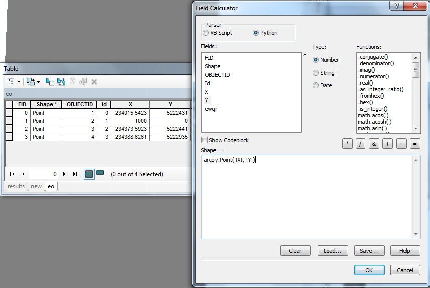 ArcMap Field Calculator: Calculating Geometry using arcpy